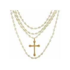 Magdalena Grande Etched Cross in Gold   Black Diamond ($255) ❤ liked on Polyvore