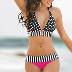 22.99$  Buy here - http://viary.justgood.pw/vig/item.php?t=wfnpw931213 - New New Arrival Summer Style Bathing Suit Sexy Stripe Fringe Dotted Large Size 22.99$