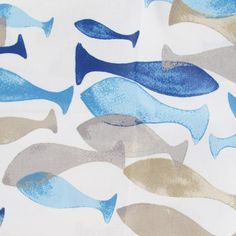 Tissu enduit coton aqua beige bleu x 10cm Aqua, Beige, Kids Rugs, Abstract, Artwork, Decor, Fabrics, Blue, Cotton