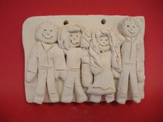 clay figure portrait lesson  relief sculpture