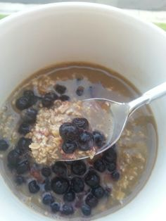 Overnight oats w @silk vanilla late and wild blueberries