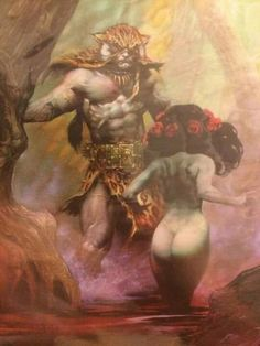 All images are assumed to be in the public domain and are presented for non commercial purposes. If any image presented here belongs to you and you wish to have it removed, please contact me and I will remove it immediately. Fantasy Figures, Fantasy Characters, Fantasy Paintings, Fantasy Artwork, Heavy Metal Art, Frank Frazetta, Bd Comics, Sword And Sorcery, Fantasy Warrior