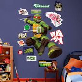 Fathead TMNT Raphael Wall Decal - Wall Sticker, Mural, & Decal Designs at Wall Sticker Outlet