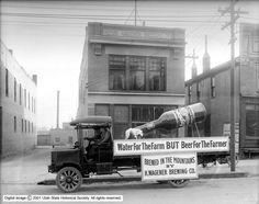 old school beer ad / billboard