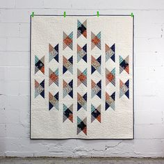 Fieldcrossing quilt designed byElizabeth Olwen. Pieced and quilted by Linda Spiridon.   Free project: cloud9fabrics.com/projects/make-it-sew  Wildwood by Elizabeth Olwen for Cloud9 Fabrics 100% certified organic cotton.