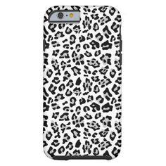 Gray Black Leopard Animal Print Pattern