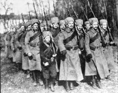 WWI Cossacks. Ironic, isn't it? They fought bravely against the Germans in the First War. But come the Second, and many of the Cossacks joined them.