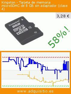 Kingston - Tarjeta de memoria microSDHC de 8 GB sin adaptador (clase 4) (Ordenadores personales). Baja 58%! Precio actual 3,28 €, el precio anterior fue de 7,90 €. http://www.adquisitio.es/fabricado-marca/kingston-tarjeta-memoria-1