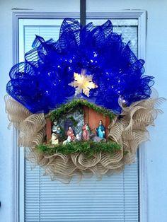 Nativity Wreath Christmas Christmas Decorations