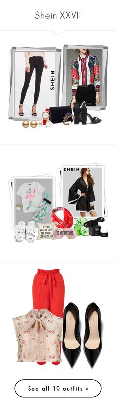 """Shein XXVII"" by azra-90 ❤ liked on Polyvore featuring Miss Selfridge, Skagen, GALA, BaubleBar, Leisureland, Kiss the Moon, Needle & Thread, Giuseppe Zanotti, Gucci and Chicwish"