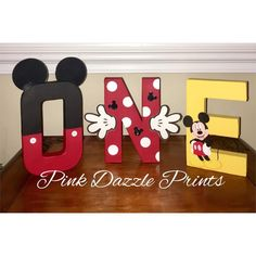 Oh-toodles! Someone is turning one! Mickey Mouse letters for the birthday boy! Mickey Mouse Party Decorations, Mickey Mouse Parties, Mickey Party, Minnie Mouse Gifts, Disney Parties, Elmo Party, Dinosaur Party, Dinosaur Birthday, Mickey 1st Birthdays