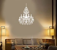 Girls name wall decal chandelier wall decal girls bedroom girls name wall decal chandelier wall decal girls bedroom decal custom name decal wall decals chandeliers and walls mozeypictures Gallery