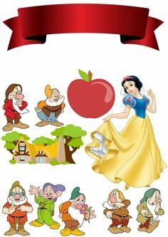 Blanca Cartoon Pics, Cartoon Characters, Disney Paper Dolls, Princess Cupcake Toppers, Snow White Birthday, Snow White Disney, Kids Background, Disney Princess Party, Princesa Disney