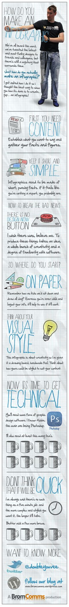 How do you make an infographic? | Repinned by @Piktochart