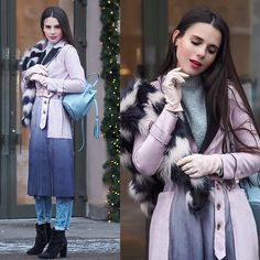 Get this look: http://lb.nu/look/8606525  More looks by Yana P: http://lb.nu/ahandfulofstories  Items in this look:  Coat, Backpack, Faux Fur   #casual #chic #romantic