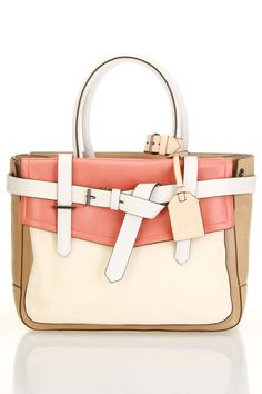 would love this for an everyday bag -Buckled Satchel / Reed Krakoff