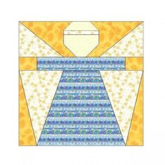 ALL STITCHES - ANGEL PAPER PIECING QUILT BLOCK PATTERN .PDF -001A by AllStitches, $5.00 USD