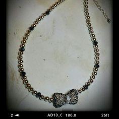 Beaded bow tie necklace #beadingbabesofdurham #bethbianchi #beadrock #beadclasses
