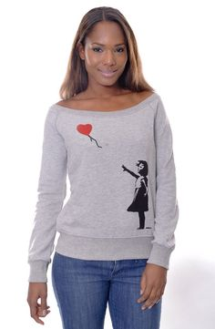 Banksy Girl There is Always Hope  Red Heart by Trendwaylondon, £12.99