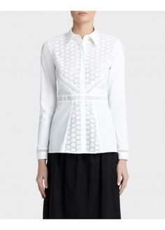 36c09bac2589ca Excursion Stretch Katrina Blouse - The White Shirt Shop - Features. Lafayette  148 New York