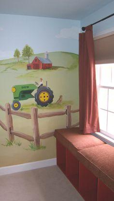 farm murals and tractors   Horse Mural   Professional Mural Artists