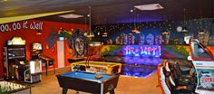 Colourful games room Games Room Inspiration, Poker Table, Game Room, Furniture, Color, Home Decor, Decoration Home, Room Decor, Game Rooms