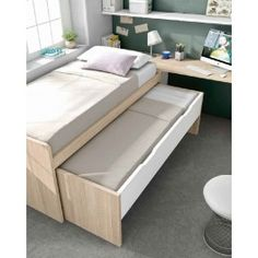 Small Room Interior, Room Interior Design, Pull Out Bed, Study Room Decor, Decoration, Beds, Sofa, Storage, Furniture