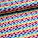 Stoff Streifen - 0,5m Ringel Jersey bunt weiß Regenbogen - ein Designerstück von Sinabambina-Stoffsucht bei DaWanda