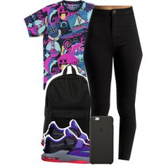 A fashion look from February 2015 featuring pink dolphin shirts, highwaisted skinny jeans and black bag. Browse and shop related looks.