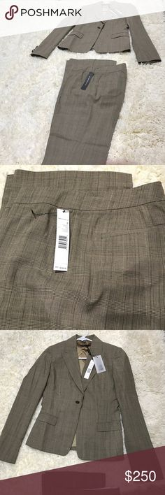 Elie Tahari Suit set Brownish with light brown lines ; very elegant ; work style Elie Tahari Other