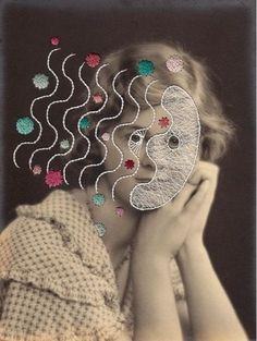 Maurizio Anzeri. Collages, Mixed Media Photography, Contemporary Embroidery, A Level Art, Light Of Life, Ap Art, Assemblage Art, Italian Artist, Textiles