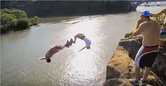 Un grupo de adictos a la adrenalina viajan por toda la costa este, en busca de los puntos de salto más emocionantes , peligroso, y todo lo mejor del acantilado. Rodada en el transcurso de 3 meses en Pennsylvania , Nueva York , Nueva Jersey, Delaware, Maryland y Vermont. Tren Trestles , puentes, quebradas , árboles, columpios de cuerda ; todo lo que tenga agua estos chicos saltaron sobre él, estos Tienen una gran bolsa de trucos también.