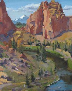 Oregon High Desert Bend landscape painting Smith by SedwickStudio, $350.00