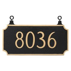 Montague Metal Princeton Double Sided Address Sign Hanging Plaque - TSH-0005S1-H-GS