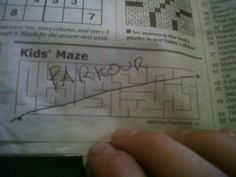 Or any person who has absolutely no time for a kids maze: