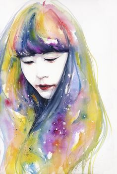 'Lime Nights' Original Painting by Agnes Cecile - Now available for purchase at Eyes On Walls http://www.eyesonwalls.com/collections/agnes-cecile?sort_by=created-descending