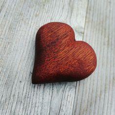 Wooden mahagony heart