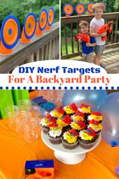 #Ad How to create your own DIY Nerf Targets! It's a fun craft for all ages and perfect for Nerf party ideas. It's a great backyard summer idea for the kids too. All @nerf party supplies can be found at your local @KrogerCo store for #NerfFest2019. #NerfOrNothin #KrogerNerf #Nerf #NerfNation #NerfFest2019