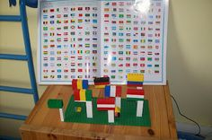 csupamoka2 Lego flags--cool idea!