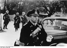 German military journalist reporting from Copenhagen, Denmark on the day of its capitulation, 9 Apr 1940