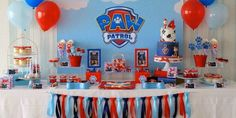 Paw Patrol Party A very cute Paw Patrol themed party by XOXO Events Australia Cake & cupcakes by Cake Lady Cakes Printables from Pea & Pearl. There are lots of fun and unique Paw Patrol P… Paw Patrol Birthday Decorations, Paw Patrol Party Favors, Paw Patrol Birthday Theme, Paw Patrol Cupcakes, Paw Patrol Invitations, Paw Patrol Cake, Cumple Paw Patrol, 4th Birthday Parties, 3rd Birthday
