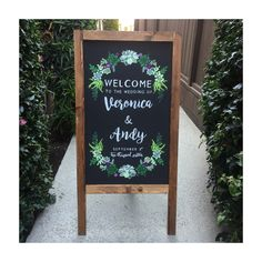 Wedding Wooden Sign Welcome Wedding Succulents Chalkboard Sandwich Board Easel Sign by treetopiece on Etsy https://www.etsy.com/listing/508456831/wedding-wooden-sign-welcome-wedding