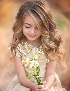 Prettiest Little Girl Wavy Hairstyles 2016