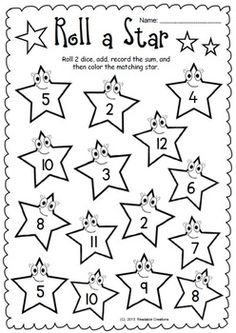 Roll a Star - Addition and Subtraction