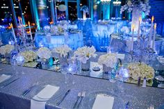 A magical and modern table setting created by #platinumlist @NewberryBros! -