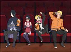 Sasuke, Sarada, Boruto & Naruto (are they on a date?)
