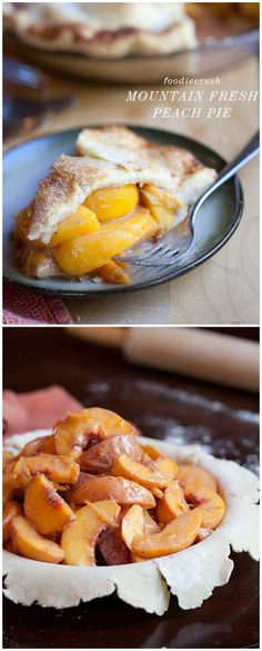 The prettiest pie I've ever made, and totally loaded with peaches #recipe on foodiecrush.com