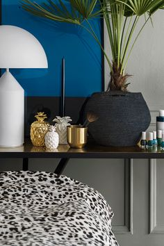 Enhance your interior style with rich textures, golden accents and wild animal prints.   H&M Home