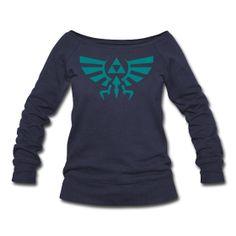 Hylian Crest Womens Wideneck Sweatshirt S-XL #Zelda