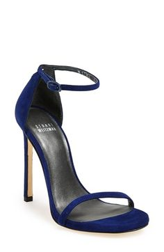 Navy Blue High Heel Sandals